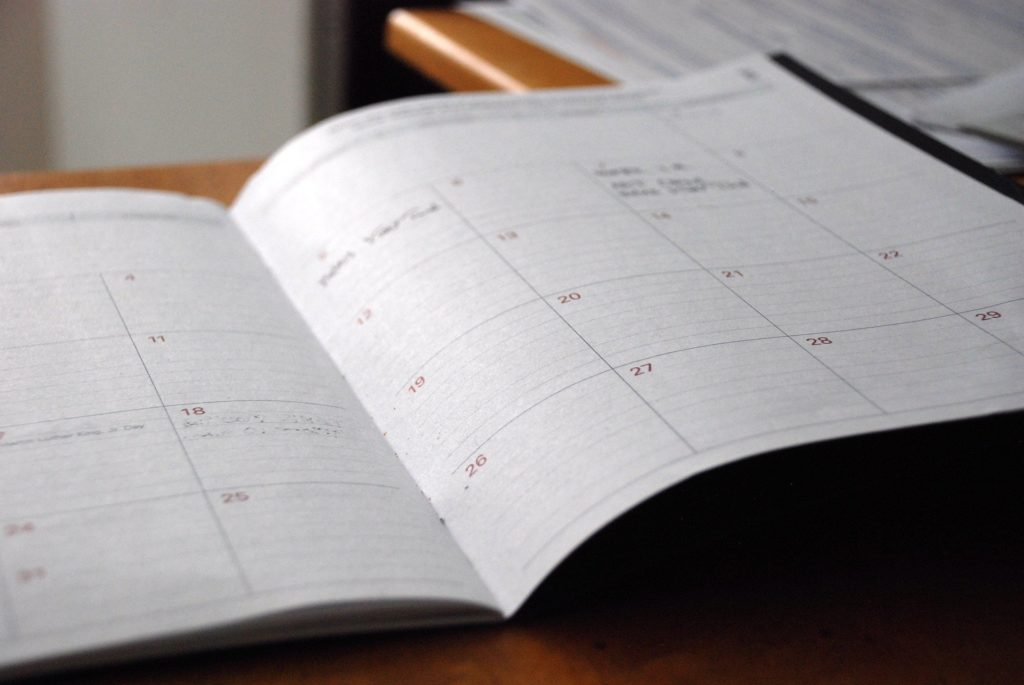 dates and scheduling