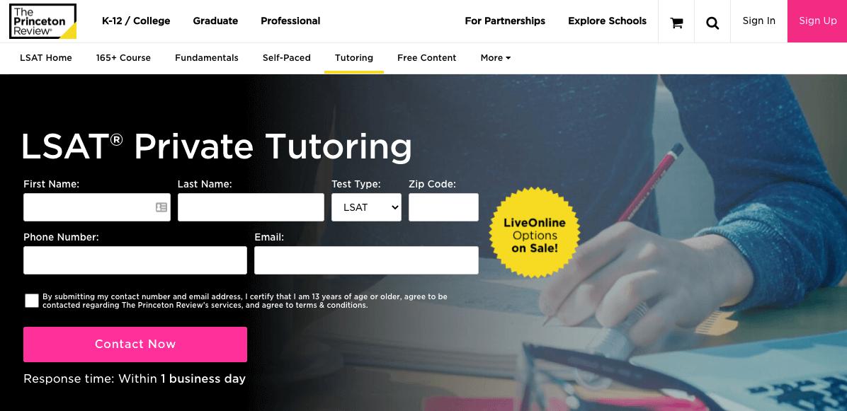 princeton review lsat tutoring